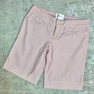 Anthropologie Elevenses Striped Bermuda Shorts